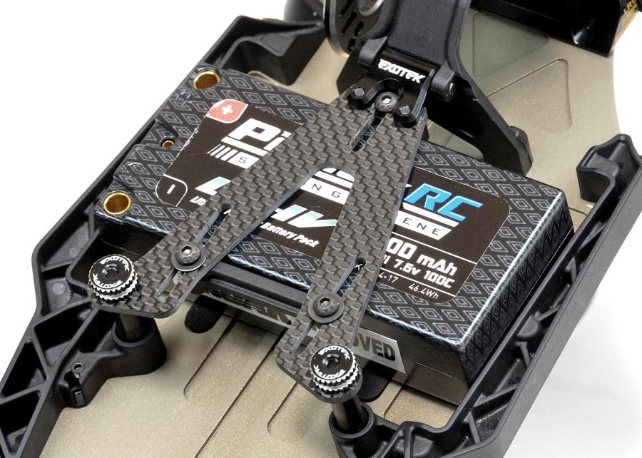 Exotek Carbon Fiber LiPo Strap For The TLR 22 3.0 & 4.0 (2)