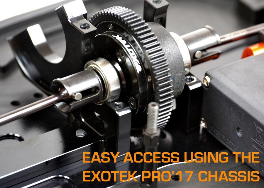 Exotek D413 4-Piece Split Motor Plate Set (4)