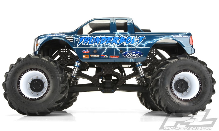 Pro-Line 2008 Ford F-250 Clear Body For Solid Axle Monster Trucks (1)