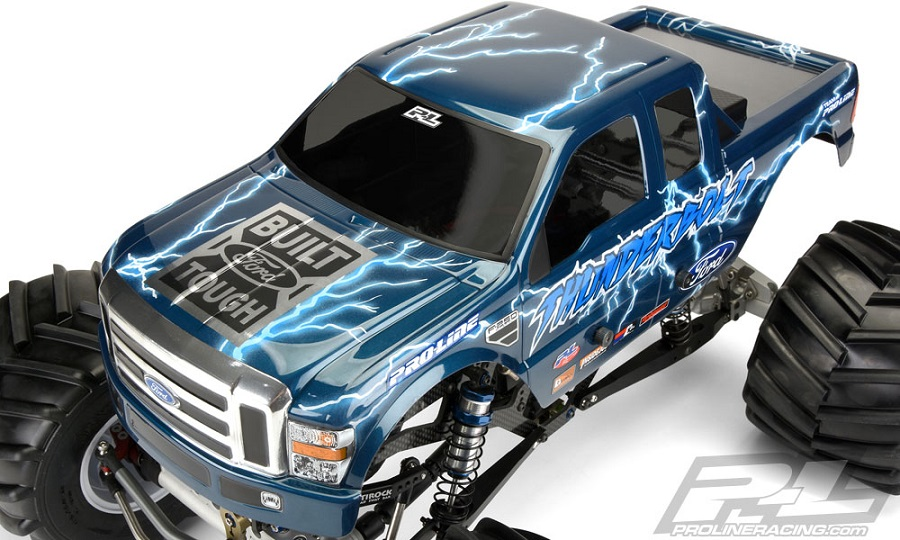 Pro-Line 2008 Ford F-250 Clear Body For Solid Axle Monster Trucks (4)