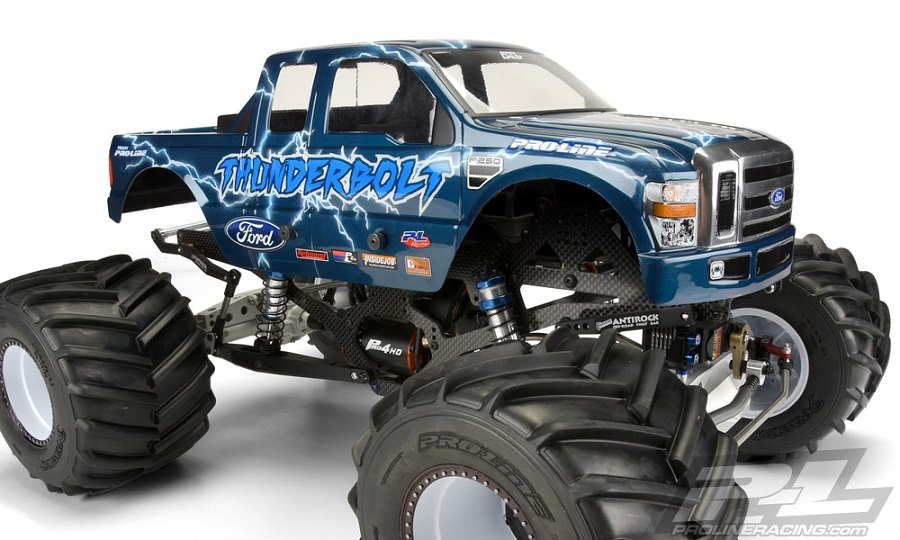 Pro-Line 2008 Ford F-250 Clear Body For Solid Axle Monster Trucks (5)