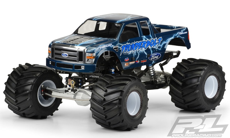 Pro-Line 2008 Ford F-250 Clear Body For Solid Axle Monster Trucks (7)