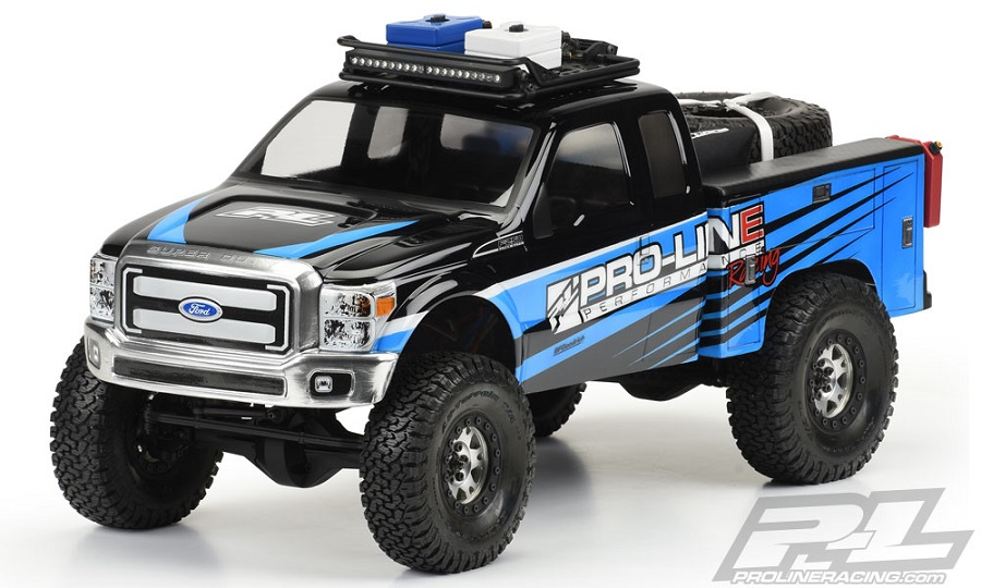 Pro-Line Utility Bed Clear Body For Honcho Style Crawler Cabs (2)