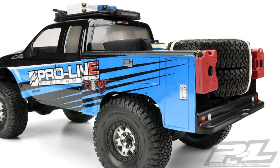 Pro-Line Utility Bed Clear Body For Honcho Style Crawler Cabs (8)