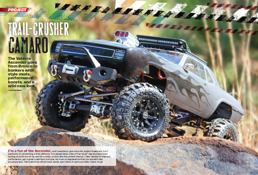 RC Car Action Trail Crusher Camaro Vaterra Ascender 1