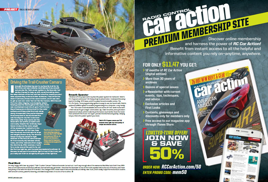 RC Car Action Trail Crusher Camaro Vaterra Ascender 3