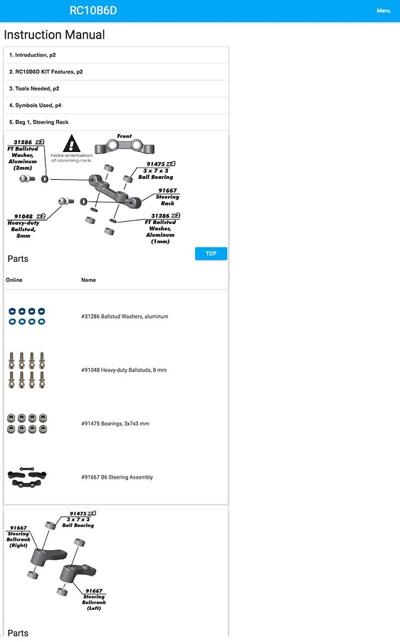RC10B6D Essentials Mobile App (2)