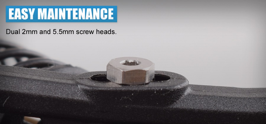 RDRP B6 Titanium Lower Shock Screw Set (6)