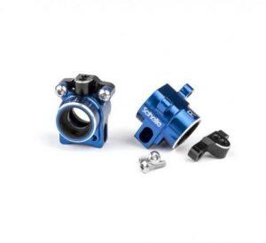 Schelle B6 Blue Aluminum Rear Hubs (1)
