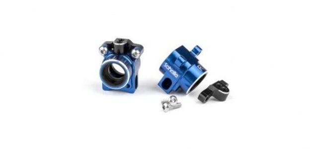 Schelle B6 Blue Aluminum Rear Hubs