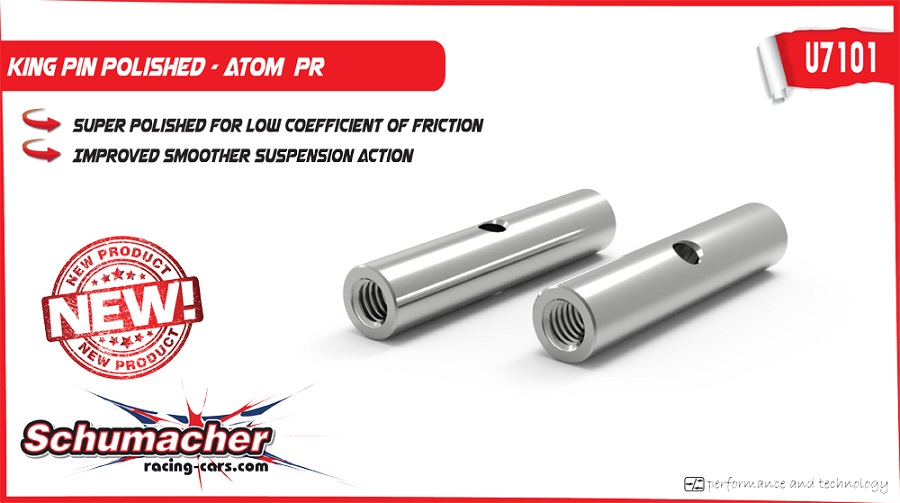 Schumacher ATOM Rear Roll Center Kit & Polished King Pins (2)