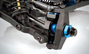 Associated B64 Aluminum Steering Rack & Caster Blocks
