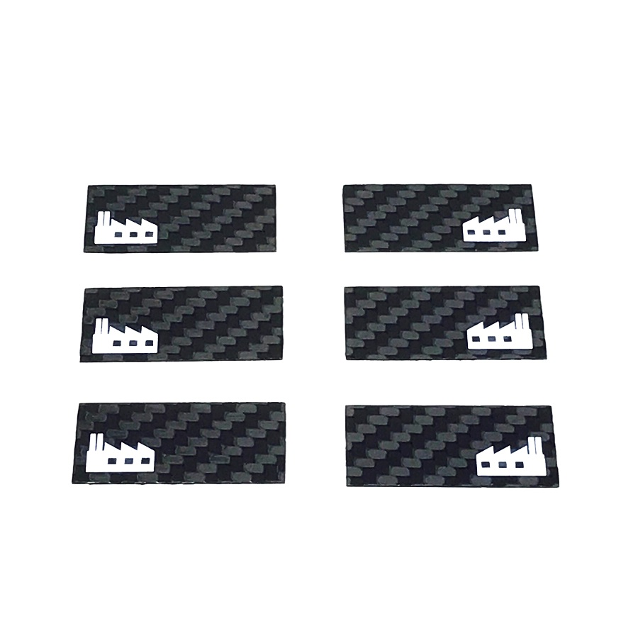 Black Fabrica 190mm & 200mm Touring Car Wing End Plates (1)