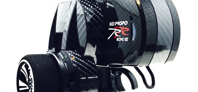 Black Fabrica Carbon Fiber Wrap For KO PROPO Radios