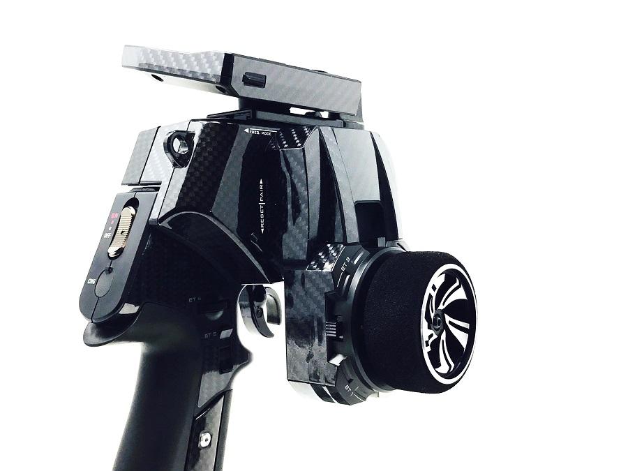 Black Fabrica Carbon Fiber Wrap For KO PROPO Radios (9)