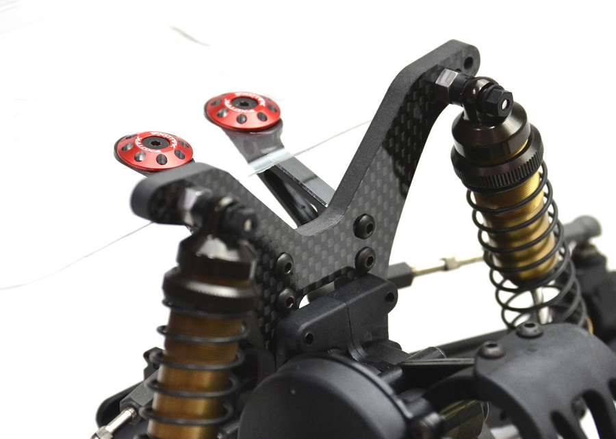 ExoTek Carbon Fiber Rear Towers For Kyosho RB6 & RB6.6 (2)