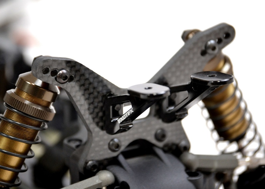 Exotek Carbon Fiber Shocks Towers For Kyosho ZX6.6 & ZX6 (3)