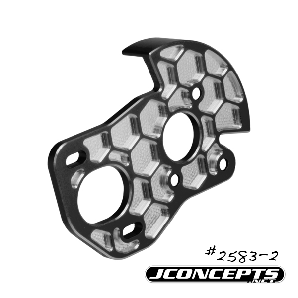 JConcepts B6 3-Gear Honeycomb Motor Plate With Shield (2)
