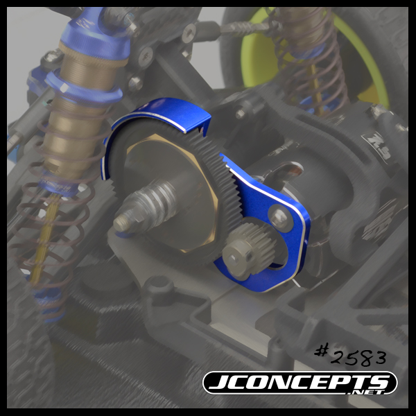 JConcepts B6 3-Gear Honeycomb Motor Plate With Shield (3)