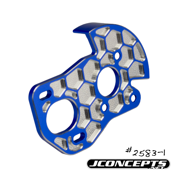 JConcepts B6 3-Gear Honeycomb Motor Plate With Shield (5)