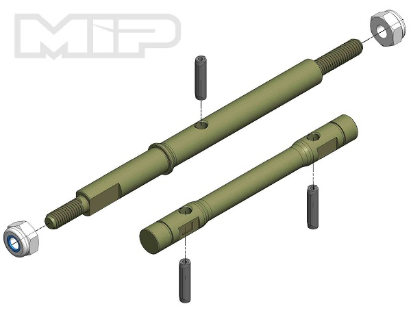 MIP TLR 22-4 2.0 13.5 Aluminum Race Shaft Set