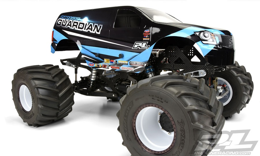 Pro-Line Guardian Clear Body For Solid Axle Monster Trucks (1)