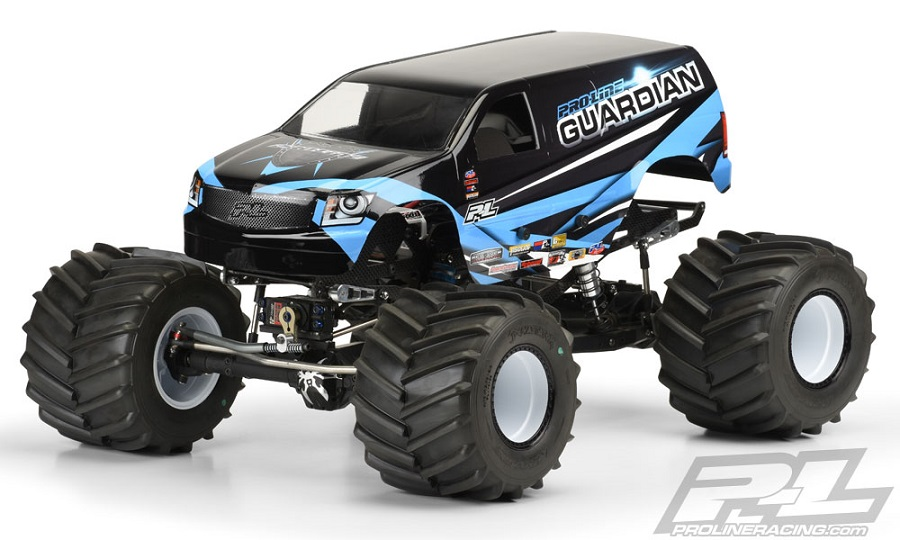 Pro-Line Guardian Clear Body For Solid Axle Monster Trucks (2)