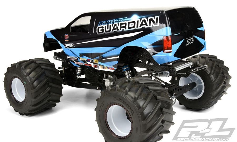 Pro-Line Guardian Clear Body For Solid Axle Monster Trucks (4)