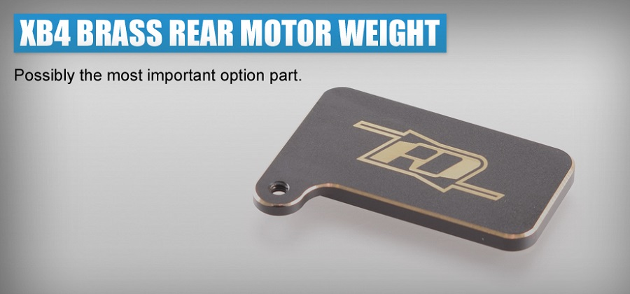 RDRP Brass Rear Motor Weight For the XRAY XB4 (4)