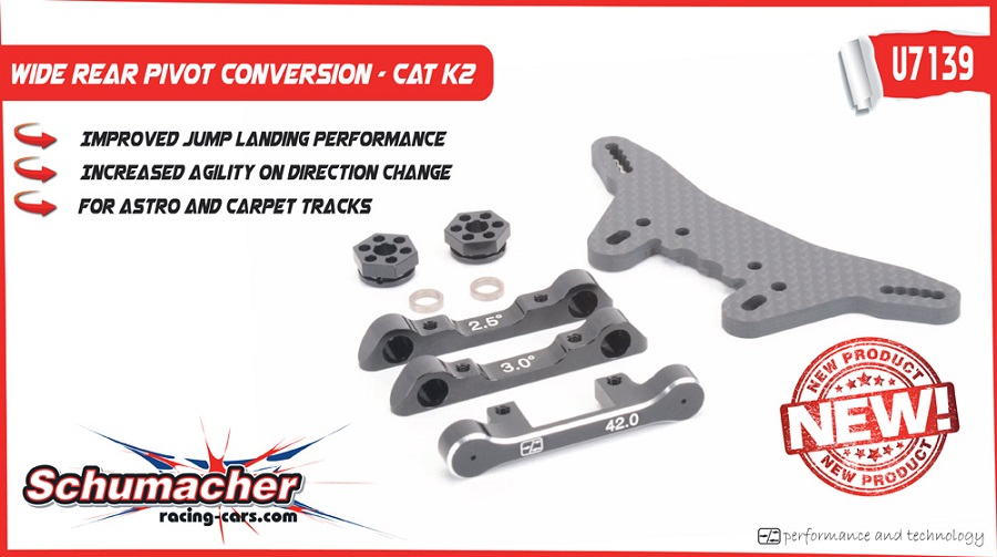 Schumacher Wide Rear Pivot Conversion For The CAT K2 (2)