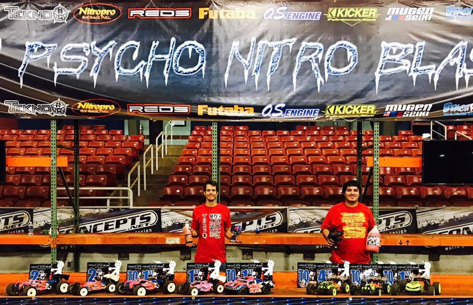 Tekno's Ryan Lutz and Joe Bornhorst TQ and win the premiere classes at the 2017 Psycho Nitro Blast