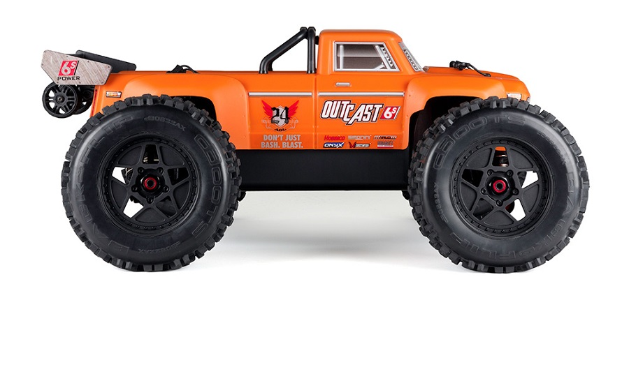 ARRMA RTR Outcast Truck Now Available With Orange Body (2)