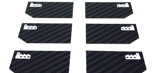 Black Fabrica 200mm Nitro Touring Car Wing End Plate v2
