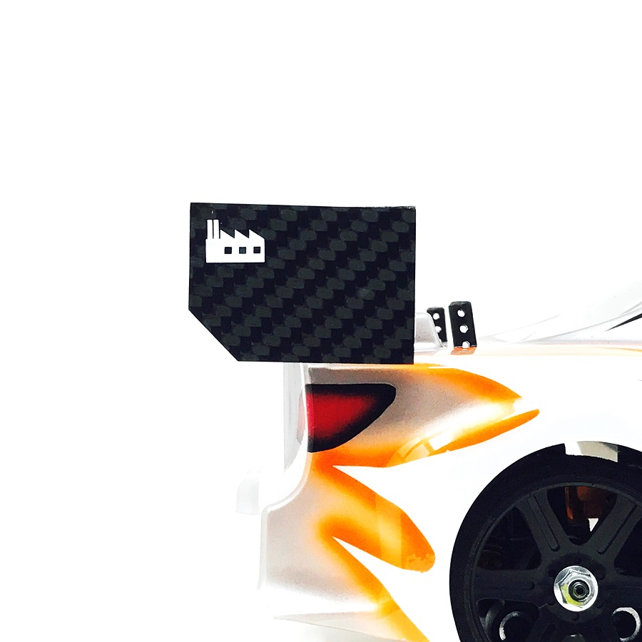 Black Fabrica 200mm Nitro Touring Car Wing End Plate v2 (2)