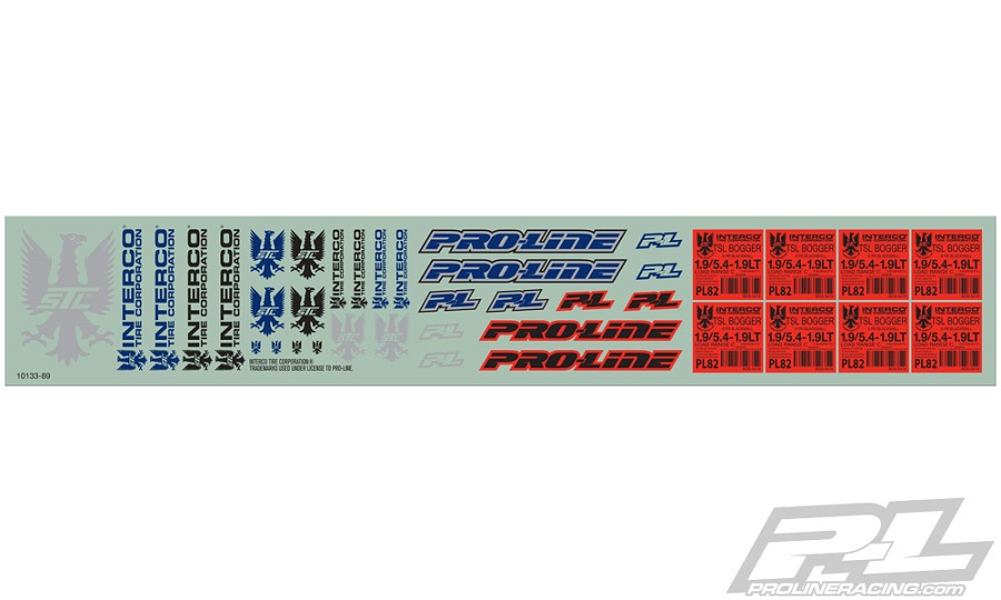Pro-Line Interco Bogger Scale Decals