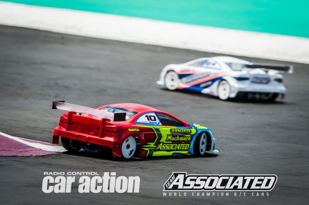 Team Associated's Ryan Cavalieri may be better known for his off-road skills, but his speed at Tamiya Raceway should put him in the mix with the top drivers.