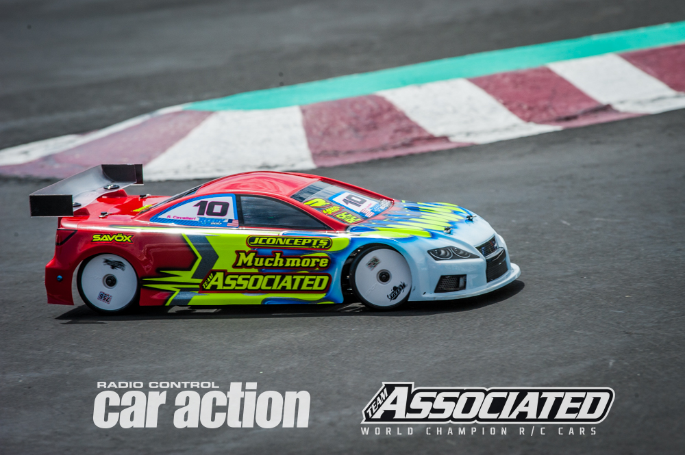 Team Associated's Ryan Cavalieri is showing good speed at the event and won his first round race.