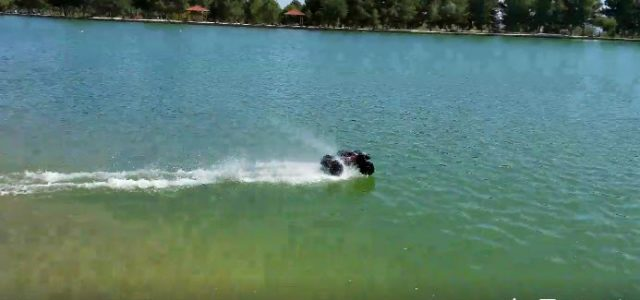 Watch this X-Maxx 8S Hot-Lap a Pond [VIDEO]