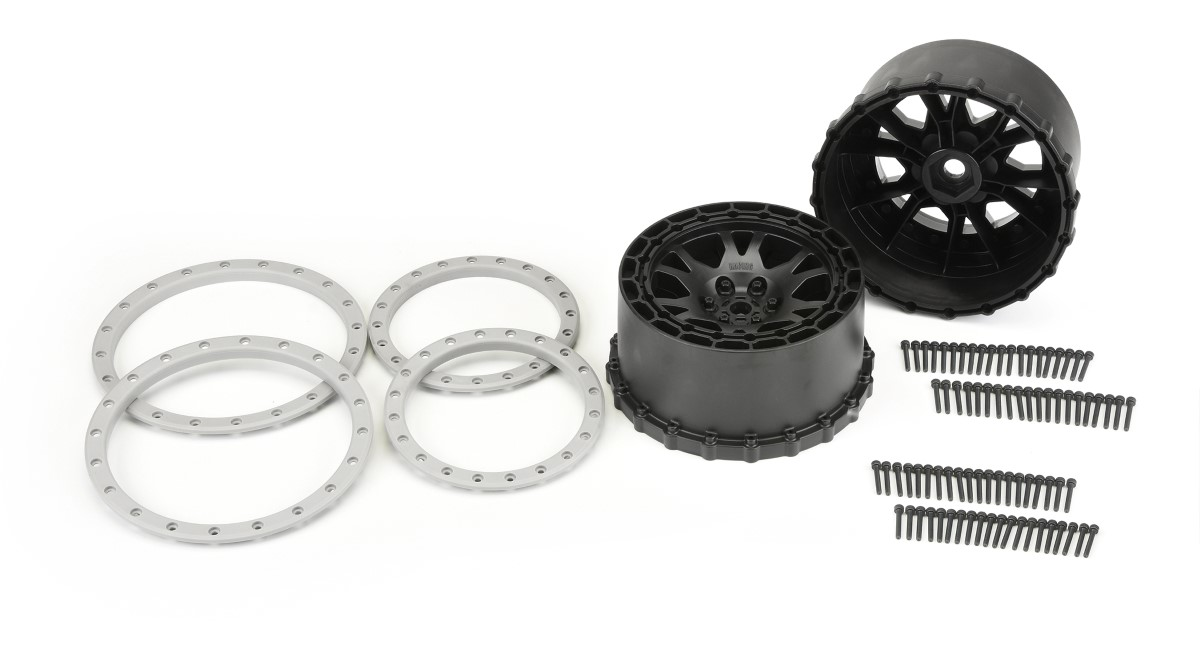 PRO-LINE MX43 Badlands Pro-Loc Tires Impulse Pro-Loc Wheels and Ford F-150 Raptor Body for Traxxas X-Maxx Review 1