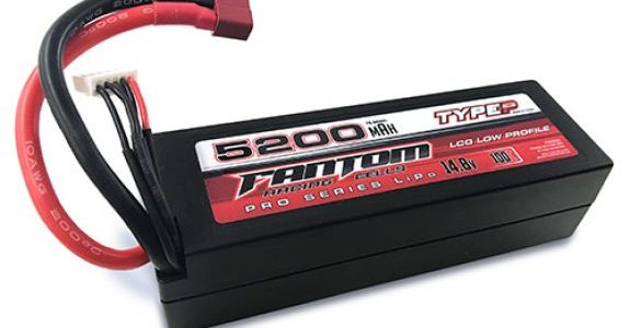 Fantom Low Profile 5200mAh 14.8v 4-Cell Racing LiPo