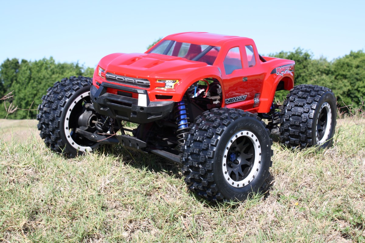 PRO-LINE MX43 Badlands Pro-Loc Tires Impulse Pro-Loc Wheels and Ford F-150 Raptor Body for Traxxas X-Maxx Review 6