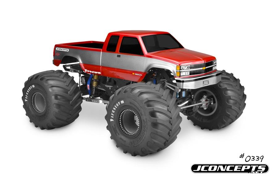 JConcepts 1988 Chevy Silverado Monster Truck Body (1)
