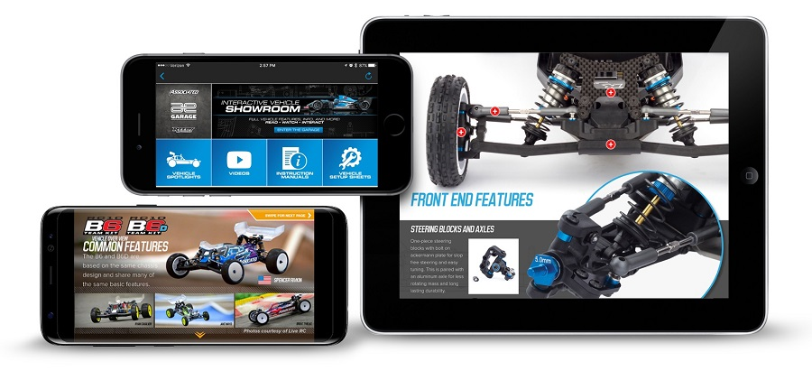 Team Associated Garage App For Mobile Devices (1)