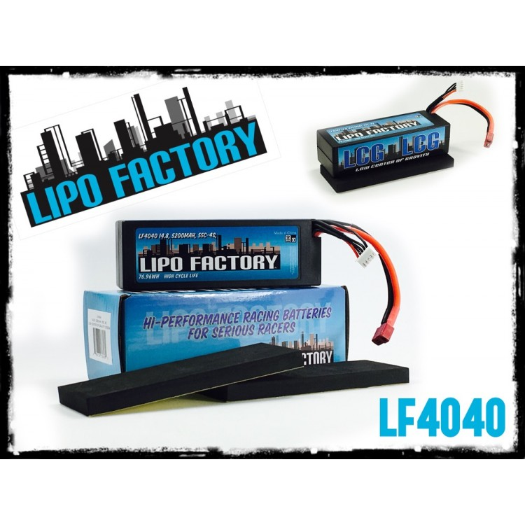Trinity LiPo Factory LCG 4s 5200mah Racing LiPo Packs