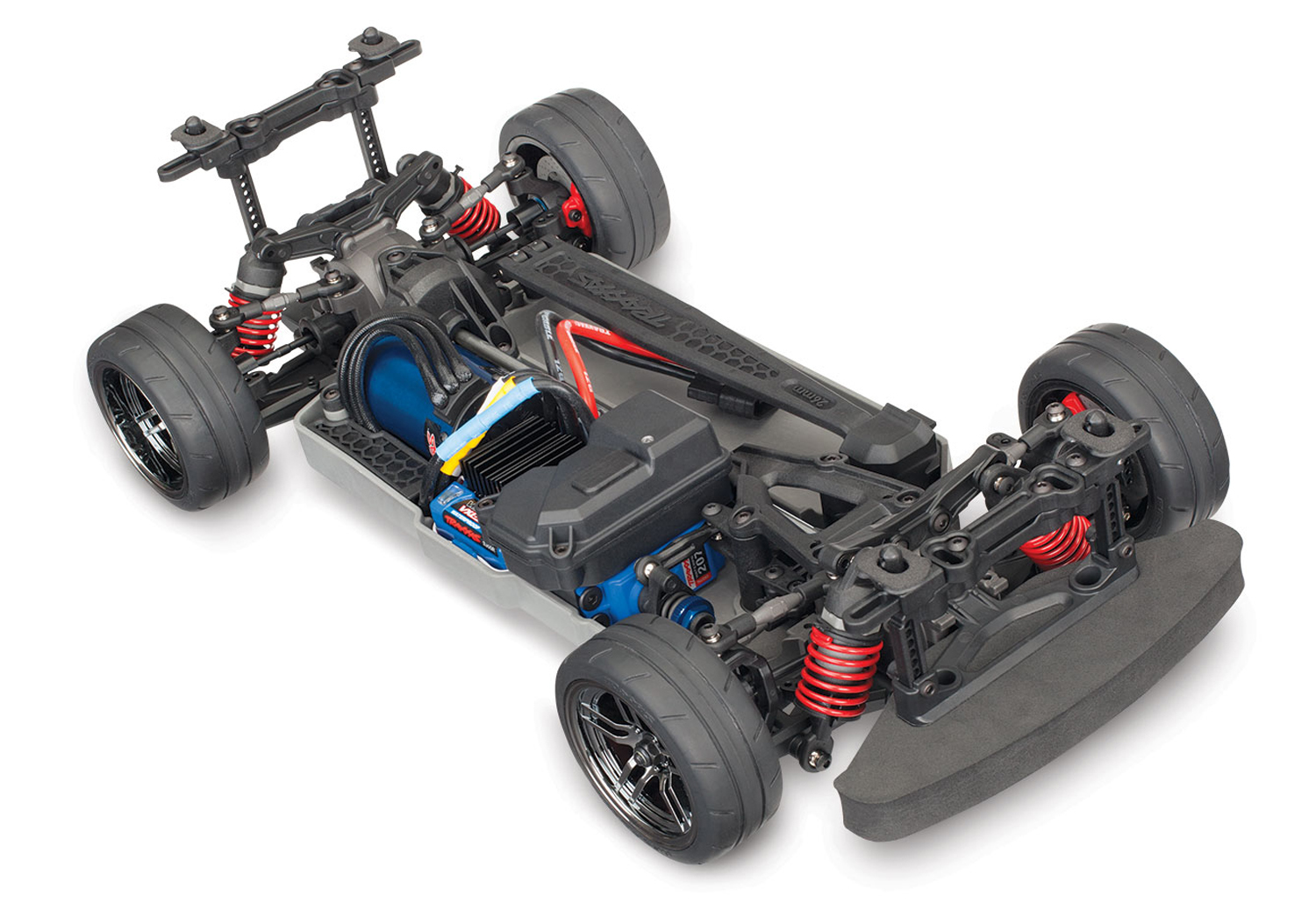 traxxas 4 tec 2 0 now available without a body and brushless rc car action. Black Bedroom Furniture Sets. Home Design Ideas