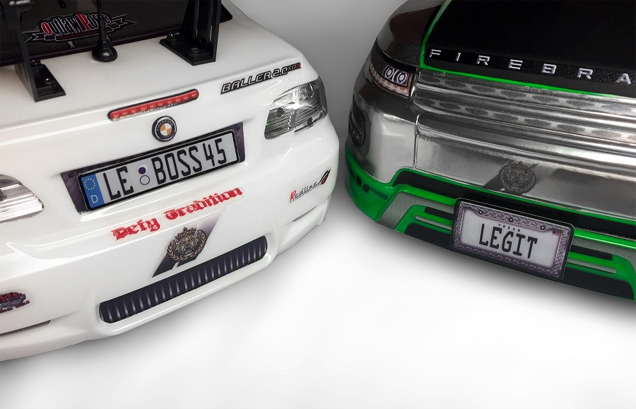 FireBrand RC License Plate Decals (1)
