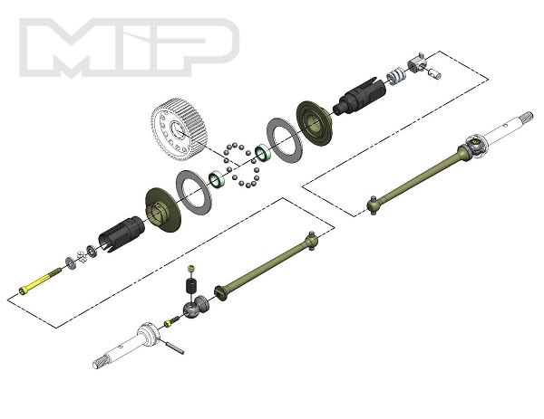 MIP Bi-Metal Super Diff TLR 22 4.0 13.5 Drive Kit (1)
