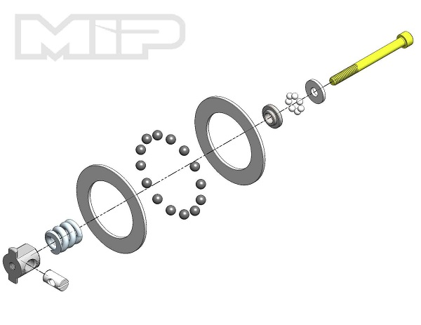 MIP Carbide Diff Rebuild Kit For All TLR 22 Series Vehicles (1)