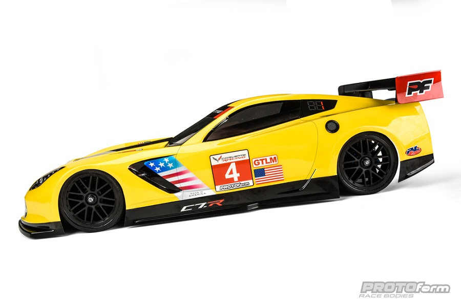 PROTOform Chevrolet Corvette C7.R 190mm Clear Body (1)