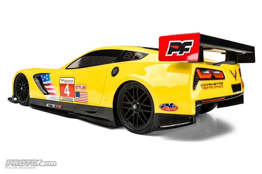 PROTOform Chevrolet Corvette C7.R 190mm Clear Body (4)